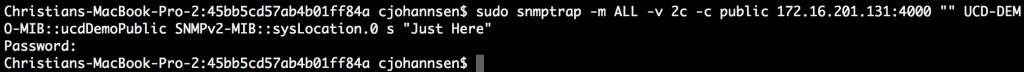 SNMP trap